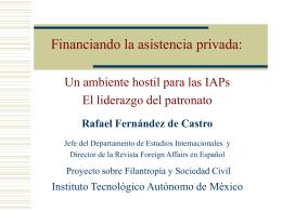 III. Elementos claves - Proyecto sobre Filantropía y Sociedad Civil