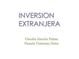 Inversión Extranjera - Ingeniería comercial uss