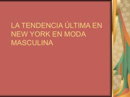 Nuevo Presentación deMODA MASCULINA EN nueva