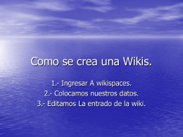 Como se crea una Wikis - lxywiki