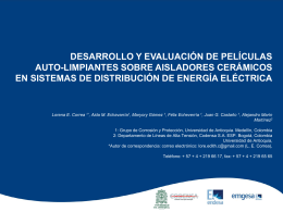 5. PELICULAS AUTOLIMPINATES SOBRE AISLADORES