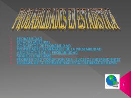 PROBABILIDADES Y ESTADISTICAS