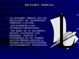 DICTAMEN PERICIAL - Justicia Forense