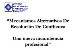 Presentación Resolución Conflictos III