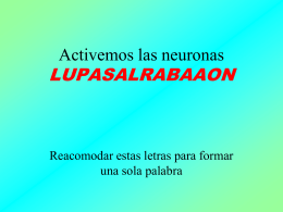 2. Activemos las neuronas
