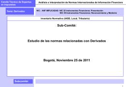 Apartes Tributarios - 260112 - NIC 39 Derivados 27 de enero de 2012