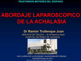 Abordaje laparoscópico de la acalasia