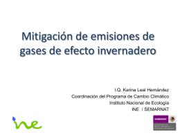 Mitigación de Emisiones-Nayarit