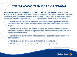 POLIZA MANEJO GLOBAL BANCARIA En