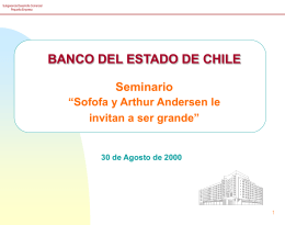BANCO DEL ESTADO DE CHILE Seminario