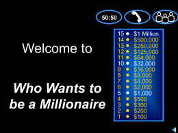 """Who Wants to be a Millionaire?"" General Review Game"