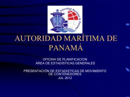 Julio 2012 - Cámara Marítima de Panamá