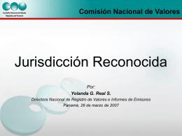 Concepto-Jurisdicción Reconocida - Superintendencia del Mercado