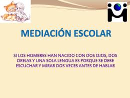 CURSO DE MEDIACIÓN ESCOLAR