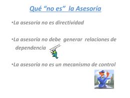 """Qué """"no es"""" la Asesoría - itepal-dpj"""