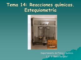 Reacciones químicas - IES Pablo Gargallo de Zaragoza