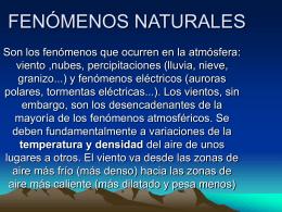 FENÓMENOS NATURALES - iesantiguasexiciencias