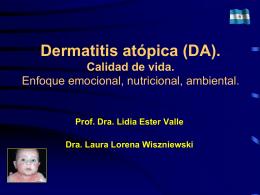 Dermatitis atópica (DA). Calidad de vida.
