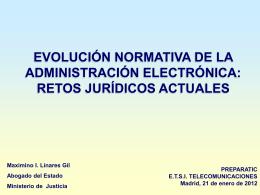 Evolución Normativa de la Administración Electrónica