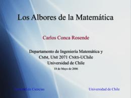 Albores-de-la-Matemá.. - Departamento de Ingeniería Matemática