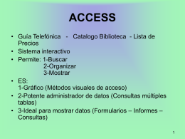 Clase ACCESS