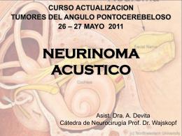 Tumores del VIII par.Neurinoma del Acústico. Dra A. Devita