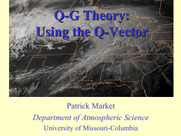 Q-G Theory: Using the Q Vector