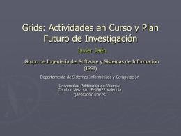 Arquitecturas dinámicas para inf. GRID