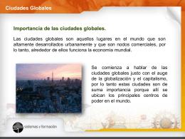 Ciudades Globales