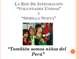 Presidente de la Red Voluntades Unidas