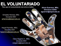 Descargar Voluntariado