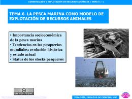 tendencias en las pesquerías mundiales