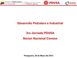 desarrollo petrolero e industrial, 3ra jornada pdvsa, sector nacional