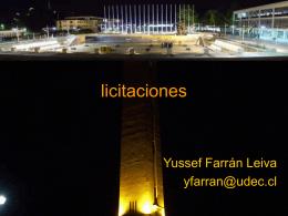 licitaciones - Asignaturas DIICC, UdeC