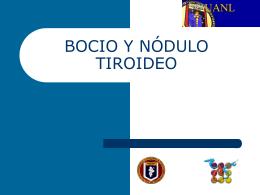 BOCIO Y NÓDULO TIROIDEO