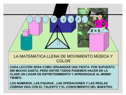 La Matemática llena de movimiento música y color