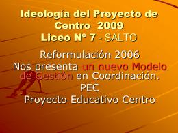 Coordinaciòn 2009 Liceo 7