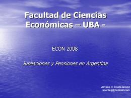 Las jubilaciones y pensiones en Argentina