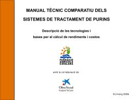Manual tècnic comparatiu dels sistemes de tractament de purins