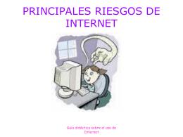 PRINCIPALES RIESGOS DE INTERNET