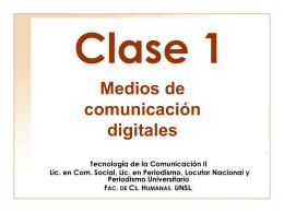 clase 1 - Página de Tecnología de la Comunicación