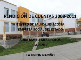 Memorias - CENTRO DE SALUD MUNICIPAL NIVEL I LUIS