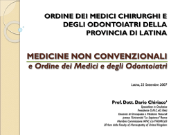 omeopatia - Ordine Medici Latina