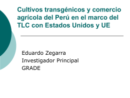 Estudio preliminar del impacto económico del uso de cultivos
