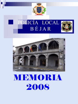 Memoria 2008 Policía Local Béjar