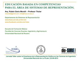 Presentación Arq. Rubén Darío Morelli