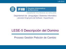 LSI Laboratori ES:E - Departament d`Enginyeria de Serveis i