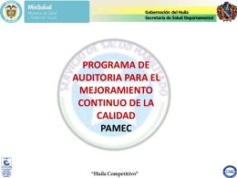 Presentación del PAMEC