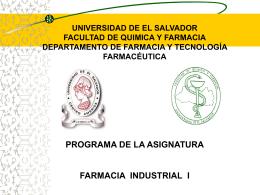 objetivo especifico - Facultad Química y Farmacia