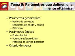 Parámetros ópticos